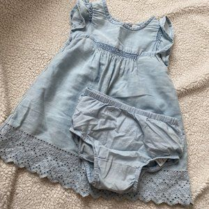 BABY GAP Chambray Summer Dress with Bloomers